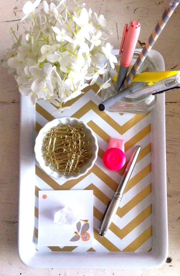 Office Inspiration 6 Summery DIY Desk Dcor Projects
