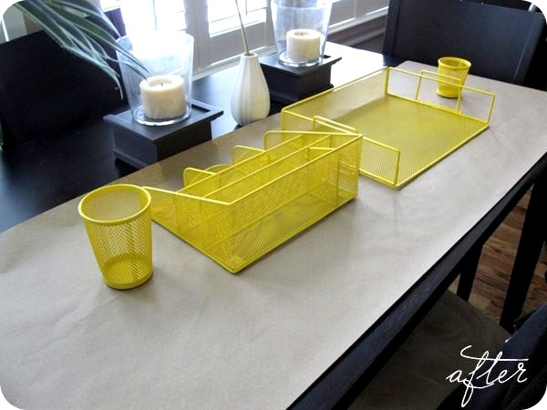 Blogger Kristina At Pretty Shiny Sparkly Blogged About Her Office Makeover  By Painting Her Ikea Office Supplies Shown Above. She Primed And Painted  (two ...